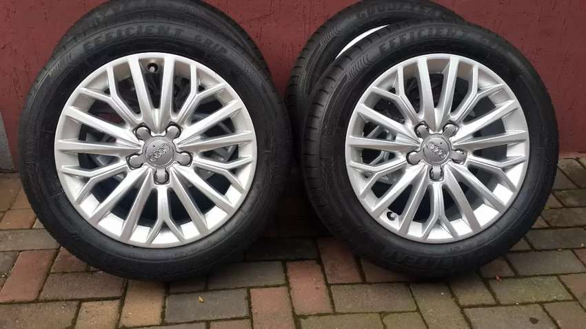 AUDI A3 OEM 16IN MAGS & TYRE'S 5X112