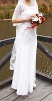 Свадебное платье( шубка в подарок)