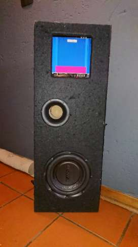 American amp and sansui subwoofer