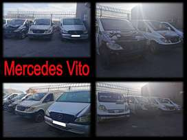 Mercedes Vito's stripping for spares.