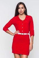 Платье-туника Molegi красное с шерстью