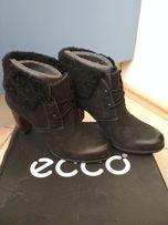 Ботинки женские, обувь женская весна осень Ecco, фирменные, кожаные