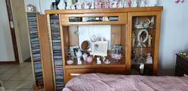 Solid Oak TV Display cabinet