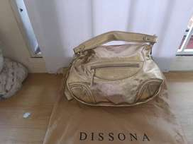 Dissona Gold Handbag