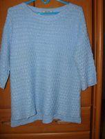 błękitny ,niebieski sweter baby blue zara s/m