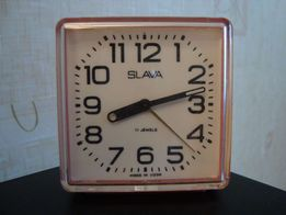 "Скидка! Часы будильник ""SLAVA"". Made in USSR. 11 камней"