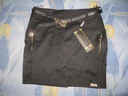 новая юбка, стильная тёмно синяя, чёрная, подклад