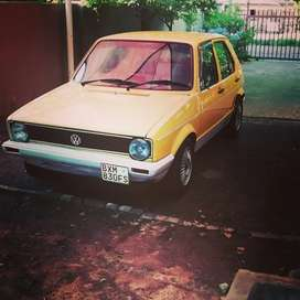 Mk 1 yellow golf 1986 model.
