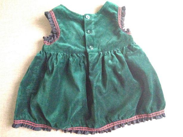 Новорічне платтячко/ велюрова сукня для малечі 0-6міс. Львов - изображение 3