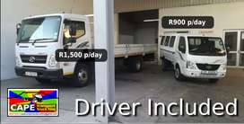 TRUCK HIRE:1-ton/8-ton: Furniture Removals, Rubble Removal, Goods