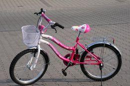 Rowerek rower dla dziewczynki 20 cali różowy