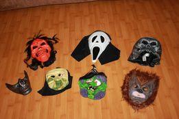 Маски на Хэллоуин плащи костюмы скелета