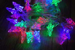 Новогодняя гирлянда Елочки, шишечка, звездочка, ежики