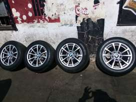 Set of BMW 16 inch rims with tyres for sell