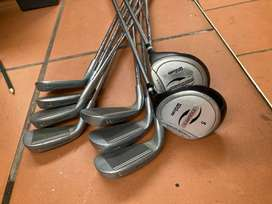 Spalding irons and Wilson woods