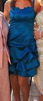 Sukienka 38 M turkusowa / morska, wesele