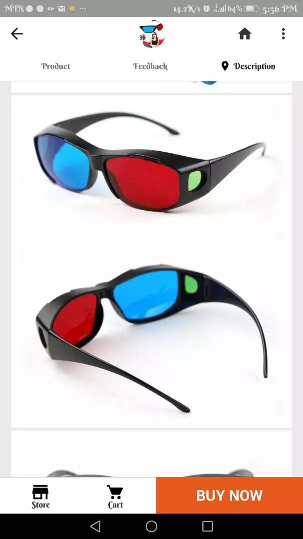 I need 3d anaglyph glasses 0