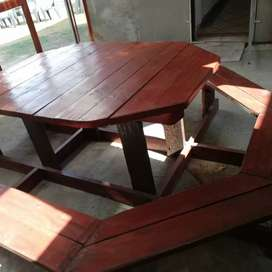 Custom Made Wooden Table For Sale