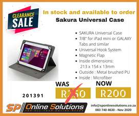 "SAKURA Universal Case 7"" / 8"" for Tablets iPad mini /GALAXY Tab"