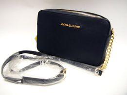 Michael Kors Granatowa piękna damska listonoszka na łąńcuszku torebka