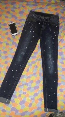Новые джинсы 27рр с жемчугом Киев - изображение 1