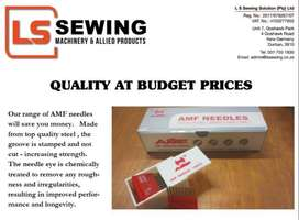 AMF Needles for Sewing and Embroidery. Suppliers to PPE manufacturers.