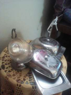 Stainless steel scoop and butter dishes