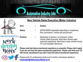 New Vehicle Sales Executive (Motor Industry) – Durban