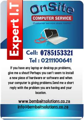 Same day computer repair services at your home or office