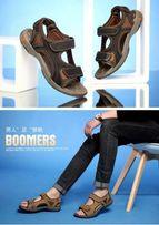 Мужские кожаные сандалии, 43р(28, 5см), новые