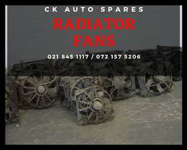 Radiator fans for sale for most vehicles make and models.