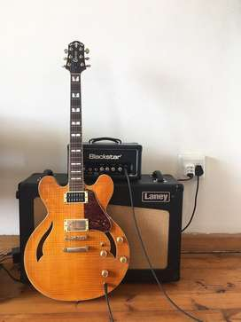 HOLLOW BODY GUITAR AND TUBE AMP