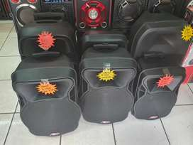All kind of chargeable speakers available at good prices