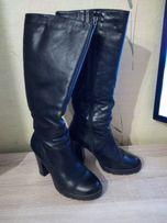 Жіночі чобітки зимові шкіряні