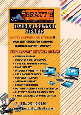 Bratts computers and internet Technical Support services