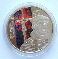 Монета 5 грн. 2017 г. 500-річчя Реформації (в капсуле)
