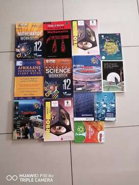 Grade 12 Text books in english and Afrikaans