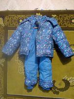 Детский зимний комбинезон с курткой р 92