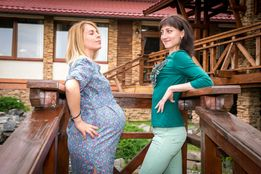 Платье на беременных на животик