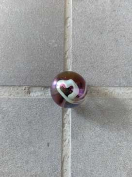 EXTREMELY RARE / GLASS MARBLE / HEART SHAPED DESIGN