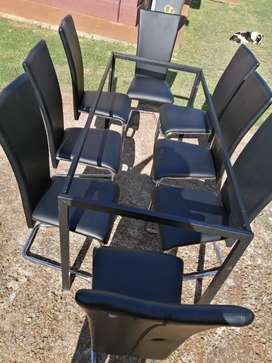 8 Italian chairs and Table frame