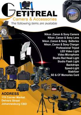 cameras and accessories