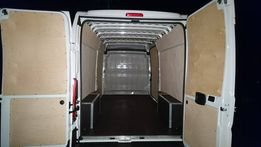 Citroen Jumper L4H2 Zabudowa podłoga i boki obicie auta