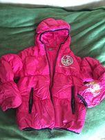 Куртка-пуховик Бенетон на дівчинку 146 см
