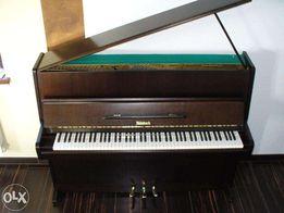 piękne brązowe pianino weinbach petrof wysoki model