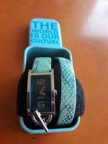 piękny zegarek na rękę ESPRIT turkusowy niebieski bransoleta