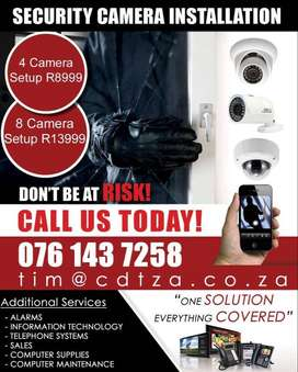 CCTV deals including installation!! Best brands at the best price!