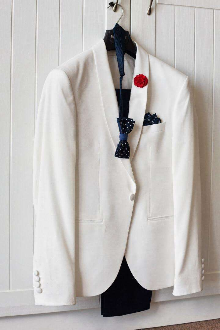 White Eurosuit Suit Jacket 0
