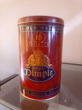 Dimple Whisky tin