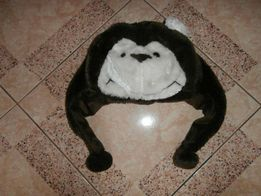 zimowa ciepla czapka małpka uniwersalna